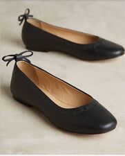 NWT Anthropologie Jasper And Jeera Bowback Black Ballerina Flats Sz 38 Euro
