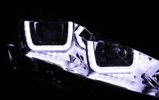 CHROM SCHEINWERFER SET VW GOLF 7 VII LED U-BAR ECHTES TAGFAHRLICHT TFL R87 NEU