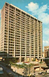 Portland Oregon Downtown Hilton Old Cars Postcard