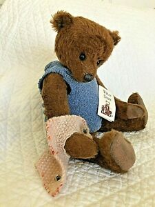 """""""Tom Burnaby"""" by Jacqueline Winter mohair bear, jointed, mint w/tag"""