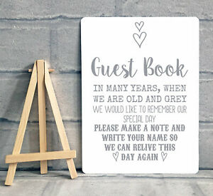 A5 Guest Book Wishing Tree Hearts Drop Box Metal Table Sign Wedding Party