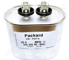 440VAC, 15uF, 10% HVAC Capacitor Packard (G21-895)