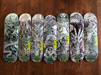 creature Skateboards ritual 3-D deck Series full set  In Shrink Wrap W/ Glasses