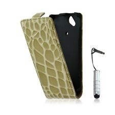 Housse étui coque style crocodile pour Sony Ericsson Xperia X12 Arc + mini style