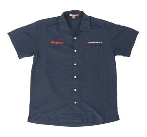"Snap On Tools Modis Ultra Men Medium 45"" Short Sleeve Button Shirt Rayon Blend"