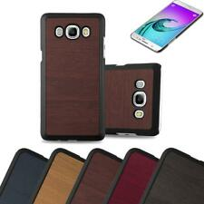 Hard Cover for Samsung Galaxy J5 2016 Shock Proof Case Wooden Style Rigid TPU