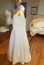 PC Marys wedding dress Ivory spaghetti straps bust 46 waist 44 length 62 pearls