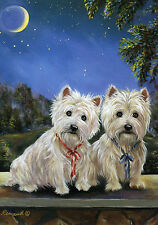 WESTIE/CAIRN TERRIER MOONLIGHTERS FLAG RESCUE FREE SHIP USA