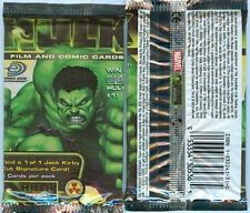 "Hulkâ""¢ Film & Comic Trading Card - Booster Packs X4 - Factory Sealed - Upper Deck"