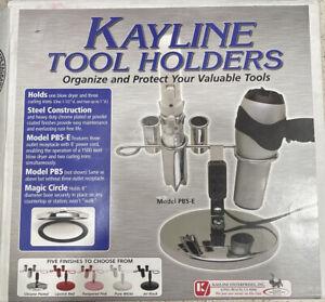 Kayline Styling Tool Holder PB5-E #965426 Holds Dryer & 3 Curling Irons Black
