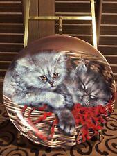 Bradford Exchange ~ Baskets Of Love ~ Emily & Elliott Collector Cat Plate