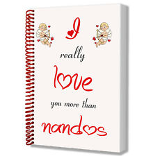 Notepad Anniversary Valentines Day Birthday Gift - I Love You More Than Nandos