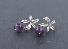 Ohrstecker silber elegant Blätter Sterne Perle Hänger