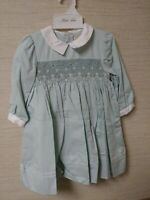 Toddler Girls. Petit Ami Green. Beautiful Dress  (2)12 months and (1) 24 months.