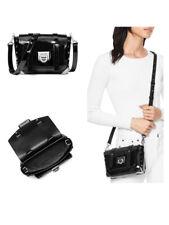 Michael Kors Manhattan Black Patent Leather Small School Crossbody Bag