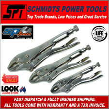 SP TOOLS SP32921 LOCKING CURVED JAW PLIER SET 3 PIECE VICE GRIPS SET - BRAND NEW