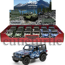 Kinsmart 2018 Jeep Wrangler Rubicon 1:34 Camo Edition with Black Top KT5420 DB