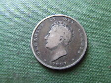 George IV. 1827, silver shilling. Très rare date. nice condition.