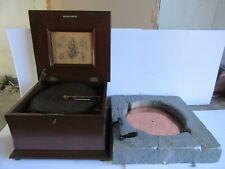 "Antique Dbl Comb Regina Musical Box, 12 1/4"" Disc, Style 16 w/ 19 Discs (Works)"