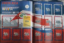 Panini 2011 Copa America Argentina Extra Costa Rica Team Stickers Update