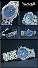 Roamer Ladies Dreamline IV,Swiss Made Stainless Steel / Folding Clasp,Face Blue