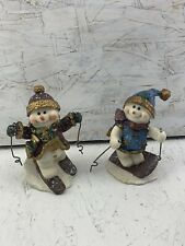 Lot of 2 - Rare Jubilee Giftware Snowman Figurines