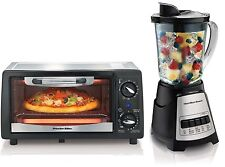 Hamilton Beach 31137 + 58148 Countertop Toaster Oven & Blender Appliance Bundle