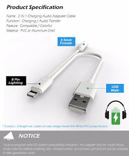 New For iPhone 7 7 Plus Headphone Adapter Charger 2 in 1 Lightning to 3.5mm Jack
