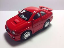 Kinsfun 2002 Red Subaru Impreza WRX Sedan  Car Diecast