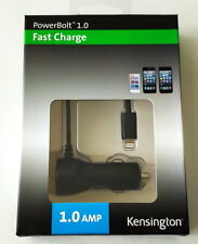 Kensington Powerbolt 1.0 Amp Car Charger iPhone SE 5 6 6S 7 8 & Plus X XS XR