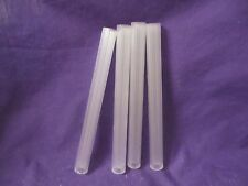 """Bakery Craft Clear/Frosted SPS scored 8"""" cake pillars"""