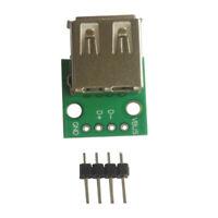 DIY USB Type A Female Breakout Board 5V Power 2.54mm Header for Arduino DIY