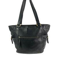 The Sak Hobo Handbag Kendra Black Leather LARGE Shoulder Bag Purse