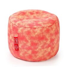 Style Homez Round Canvas Abstract Printed Bean Bag Ottoman Stool Large Cover
