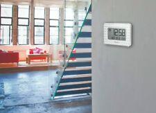 Oregon Scientific JW208W Reloj de Pared Digital con Termómetro y  Calendario