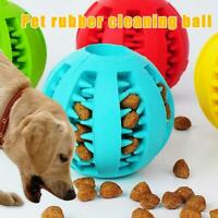 Dog Treat Ball Interactive Chew Resist Toys Teeth Cleaning Molar Toy B4V2