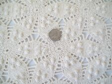 Antique Vtg Hand Crochet POPCORN Twin Bedspread Coverlet Tablecloth 81x56