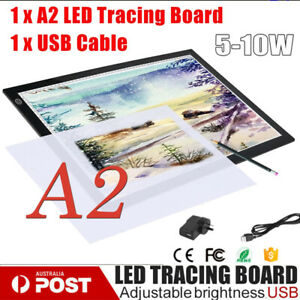 A2 LED Light Box Tracing Board Art Design Stencil Drawing Pad Copy Light-box AUE