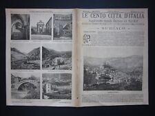 1901 SUBIACO Le Cento Città d'Italia Sonzogno Editore riccamente illustrato