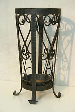 AMAZING MID CENTURY ITALIAN WROUGHT IRON UMBRELLA STAND