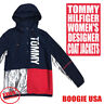 Tommy Hilfiger Women's NWT Light & Packable Hoodie Reflective Jacket Navy XL