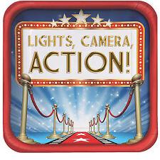 8 Hollywood Party Tema Luci fotocamera Azione Vip Premi Notturne Piastre Decorazione