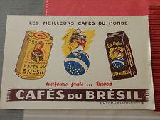 ancien buvard CAFES DU BRESIL ste franco algerienne