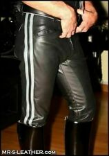 Men's Real Leather Pants Punk Kink Jeans Trousers BLUF Pants Bikers Breeches
