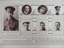 1915 GREEKS IN THE BRITISH ARMY GREEK COLONY IN LONDON WWI WW1 DOUBLE PAGE