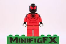 Lego SCARLET SPIDER Custom Printed Minifig Marvel Superhero Spider-Man Kaine