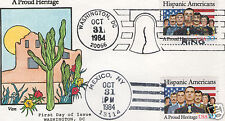 VAN NATTA HISPANIC AMERICANS PROUD HERITAGE HP HAND PAINTED FIRST DAY COVER FDC