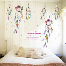 Fashion Dream Catcher Feathers Wall Sticker Mural Art Viny Decals Home Decor TR