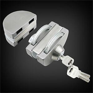 Stainless Steel Glass Door Lock Double-Sided Double-Open Shop Sliding Door Lock