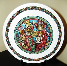 Darceau~Limoges Noel Vitrail~Stained Glass Christmas Plate #5~Adoration of Kings
